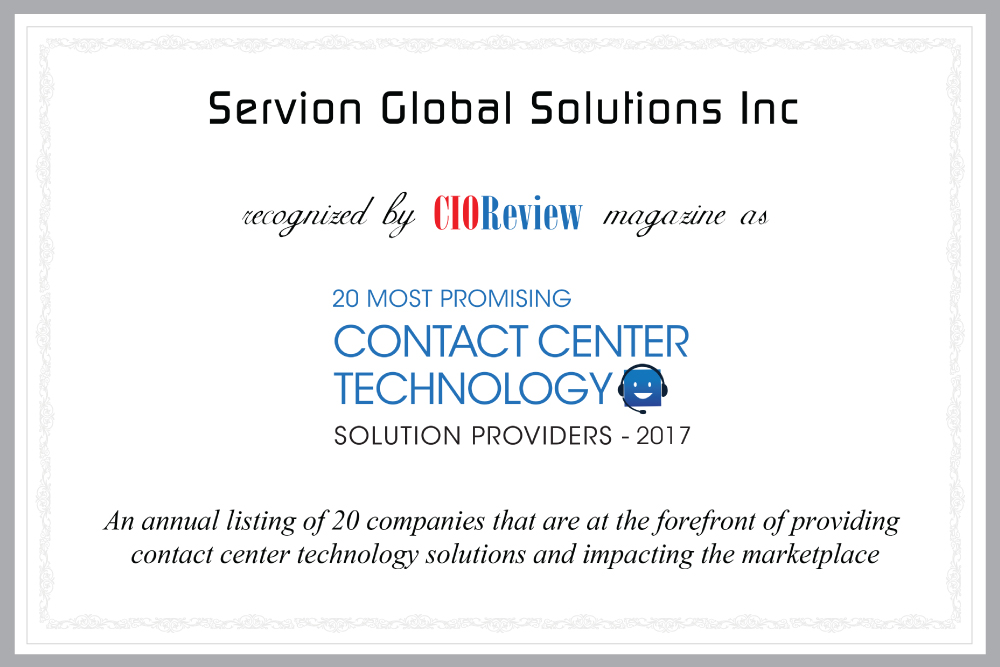 Servion_CIO_2017
