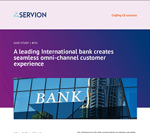 A leading International bank creates seamless omni-channel customer experience