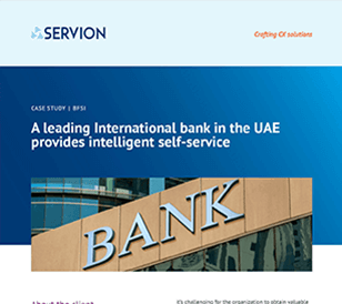 A leading International bank in the UAE provides intelligent self-service