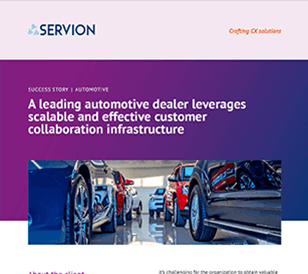 A leading automotive dealer leverages scalable and effective customer collaboration infrastructure