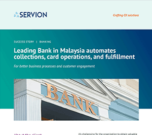 Leading Bank in Malaysia automates collections, card operations, and fulfillment