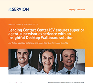 Leading Contact Center ISV ensures superior agent-supervisor experience with an Insightful Desktop Wallboard solution