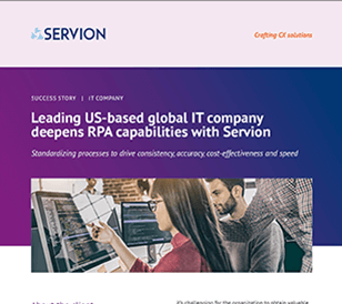 Leading US-based global IT company deepens RPA capabilities with Servion