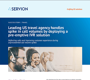 Leading US travel agency handles spike in call volumes by deploying a pre-emptive IVR solution