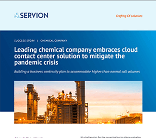 Leading chemical company embraces cloud contact center solution to mitigate the pandemic crisis
