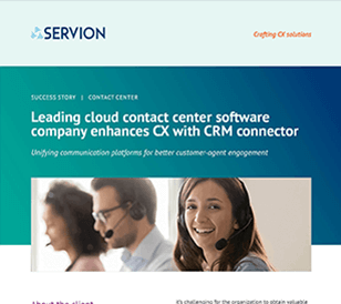 Leading cloud contact center software company enhances CX with CRM connector
