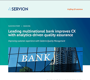 Leading multinational bank improves CX with analytics-driven quality assurance
