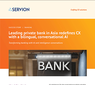 Leading private bank in Asia redefines CX with a bilingual, conversational AI