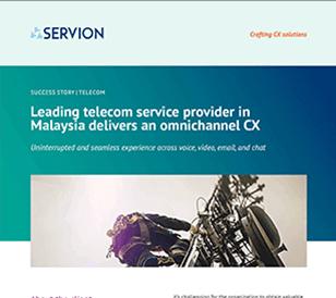 Leading telecom service provider in Malaysia delivers an omnichannel CX